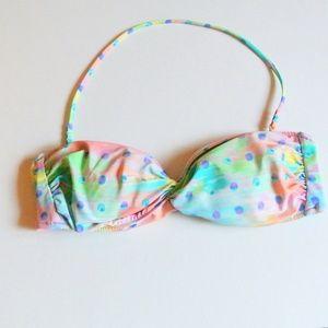Victoria's Secret Bandeau Bikini Top Dots M